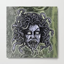 Medusa Gorgon Metal Print