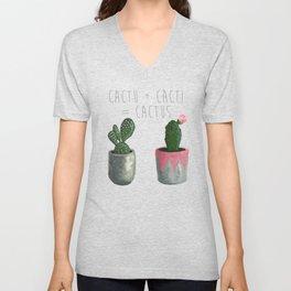 Cactu + Cacti = Cactus Unisex V-Neck