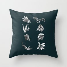 Botanica Letters | Forest Green Throw Pillow