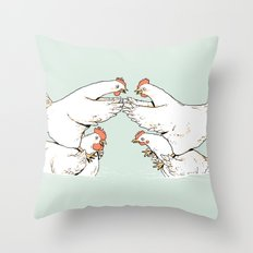 Chicken Fight Throw Pillow