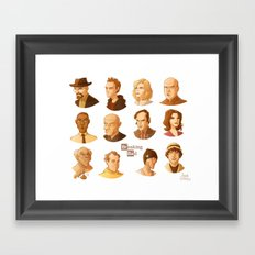 Breaking Bad caricatures Framed Art Print
