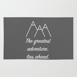 Mountain Quote Rug