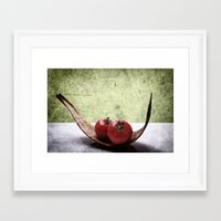 vegetable Framed Art Prints featuring Vegetable by Angela Dölling, AD DESIGN Photo + Photo