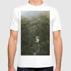 Forest Valley River - Landscape Photography MEDIUM White Mens Fitted Tee