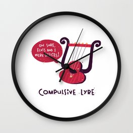 Compulsive Lyre Wall Clock