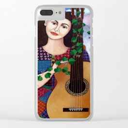 Violeta Parra collage Clear iPhone Case