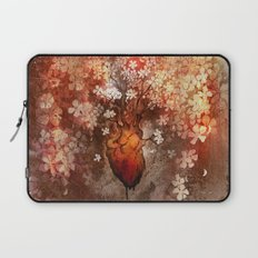 This Bleeding Blossoming Heart Laptop Sleeve