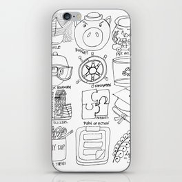 Drawing of characters comic icons iPhone Skin