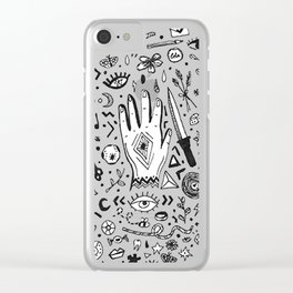 Alchemy (rose) Clear iPhone Case