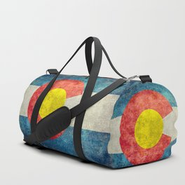 Colorado flag with Grungy Textures Duffle Bag