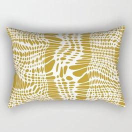 Golden waves Rectangular Pillow