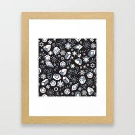Winter diamonds Framed Art Print