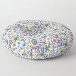 Ernst Haeckel Rainbow Diatom Tossed Floor Pillow