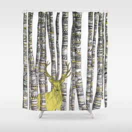 The Golden Stag Shower Curtain