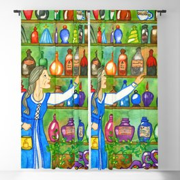 Potion Bottles Blackout Curtain