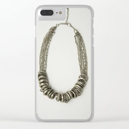 Mongolian silver necklace Clear iPhone Case