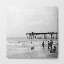 Life's A Beach (Square) Metal Print