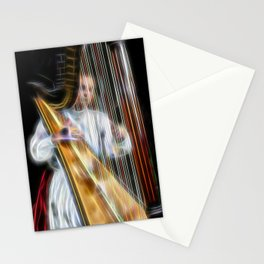 The Harp Player Abstract Stationery Cards
