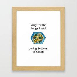 Catan, Settlers of Catan, Board Game, Geek Art, Nerd Art Framed Art Print