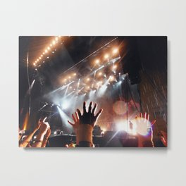 Music Scene - Leeds Festival 2013 - Biffy Clyro Metal Print