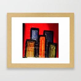 Little Buildings Framed Art Print