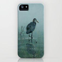 Blue Heron Misty Morning iPhone Case