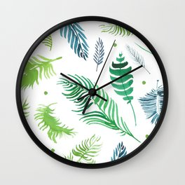 Isolated organic natural herbs illustration on white background Wall Clock
