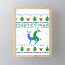 Merry Fucking Christmas Deer Ugly Christmas Gift Framed Mini Art Print