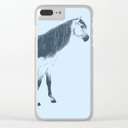 Blue Mare Clear iPhone Case