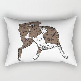 Dog Lover (Brown & White Australian Shepherd) Rectangular Pillow