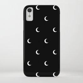 Crescent Moon Halloween Pattern iPhone Case