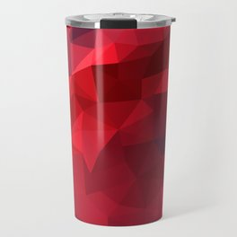 Ruby Red Low Poly Travel Mug