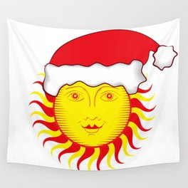 Sun: Merry Christmas Wall Tapestry