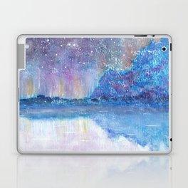 Watercolor Blue Island Laptop & iPad Skin