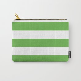 Apple -  solid color - white stripes pattern Carry-All Pouch