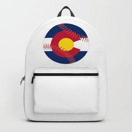 Colorado Flag Baseball Backpack
