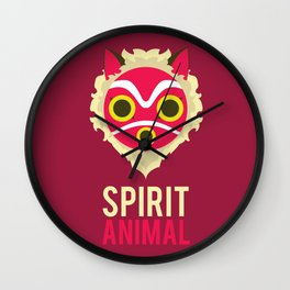 Princess Mononoke Spirit Animal Minimalist Wall Clock