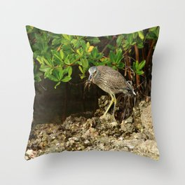 Love Crabs For Lunch Throw Pillow