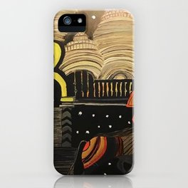 Madhubani Black iPhone Case