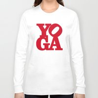 yoga Long Sleeve T-shirts featuring YoGA by Isamu