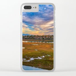 Big Sky Over the Back Bay Clear iPhone Case
