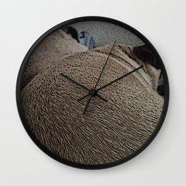 Pug Lumps Wall Clock