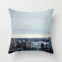 philadelphia Throw Pillows featuring Philadelphia  by Kameron Elisabeth