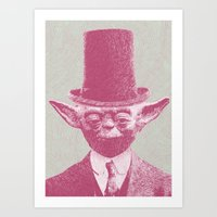 yoda Art Prints featuring Yoda by Les petites illustrations