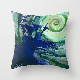 Rage Against Poseidon Throw Pillow