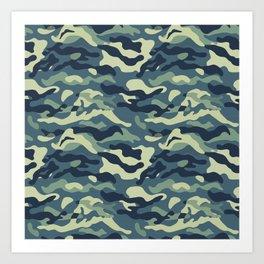 Camouflage Pattern 02 Art Print