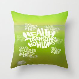 Health Transcends – Lime Throw Pillow
