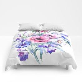Field flowers bouquet. Watercolor illustration Comforters