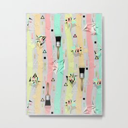 Paint Brushes Metal Print