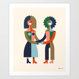 Masked Embrace by Swirvington Art Print